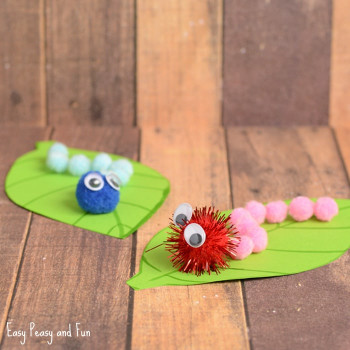 Spring Craft Ideas For Kids  Caterpillar Pom Pom Craft Spring Craft Ideas Easy