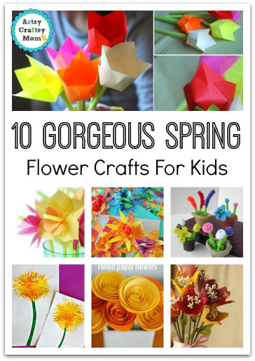 Spring Craft Ideas For Kids  72 Fun Easy Spring Crafts for Kids Artsy Craftsy Mom