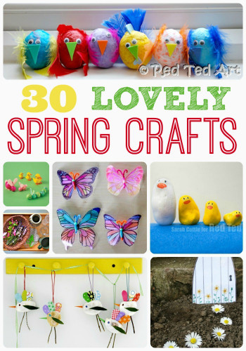 Spring Craft Ideas For Kids  Spring Craft Ideas Red Ted Art s Blog