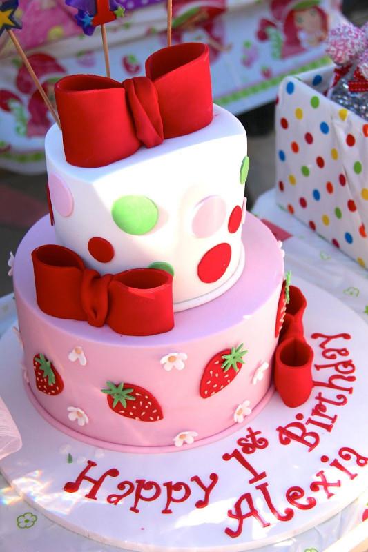 Strawberry Birthday Cake  strawberry first birthday cake Google Search