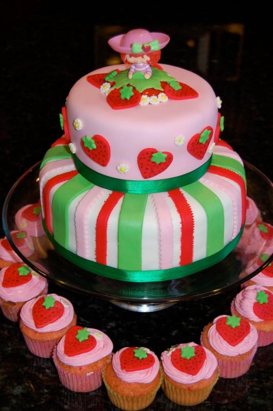 Strawberry Birthday Cake  MKHKKH Strawberry Shortcake Cake