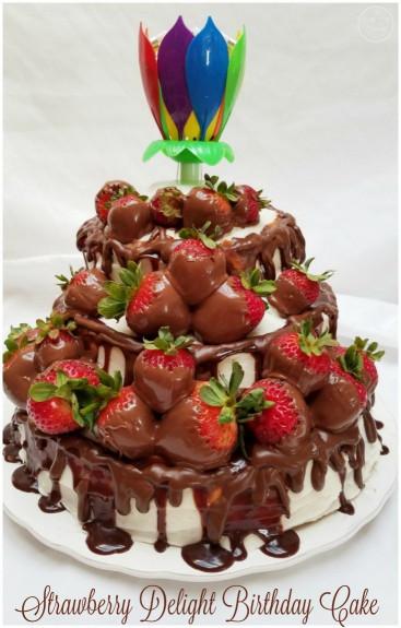 Strawberry Birthday Cake  Strawberry Delight Birthday Cake The Gluten Free Foodsmith