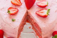 Strawberry Birthday Cake Inspirational Strawberry Layer Cake with Strawberry Frosting Averie Cooks