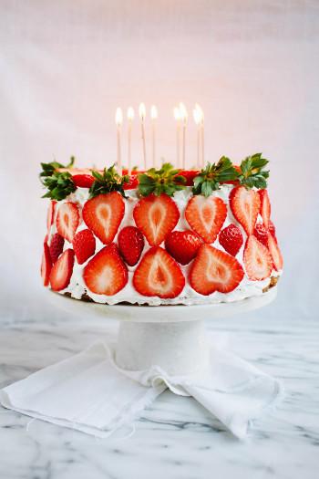 Strawberry Birthday Cake  Pomelo Happy Birthday Landon