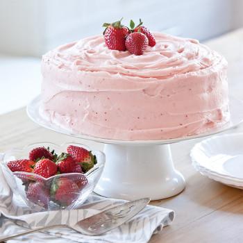 Strawberry Birthday Cake  Strawberry Birthday Cake Taste of the South Magazine