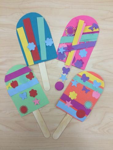 Summer Art And Craft For Kids  Popsicle Summer Art Craft for Preschoolers Kindergarten