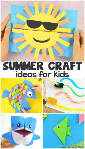 Summer Art And Craft For Kids  Summer Crafts Easy Peasy and Fun