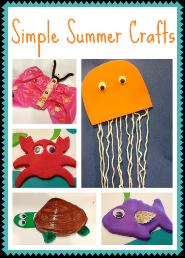 Summer Art And Craft For Kids  5 Simple Summer Crafts for Kids The Chirping Moms