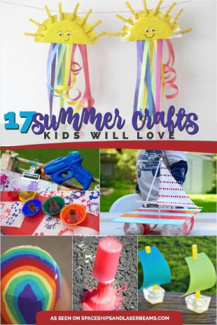 Summer Art And Craft For Kids  17 Great Summer Crafts for Kids Spaceships and Laser Beams