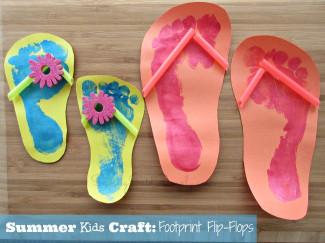 Summer Art And Craft For Kids  Summer Kids Craft Footprint Flip Flops Raising Whasians