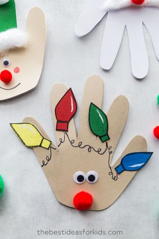 The Best Ideas For Kids  Christmas Handprint Cards The Best Ideas for Kids
