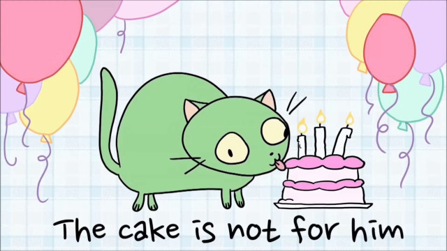 There'S A Cat Licking Your Birthday Cake  Parry Gripp SPECIAL Cat Licking Your Birthday Cake