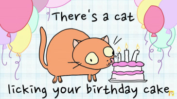 There'S A Cat Licking Your Birthday Cake  There s A Cat Licking Your Birthday Cake Chrome Theme