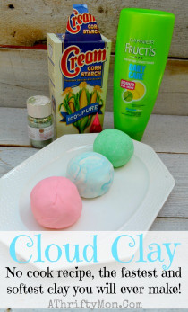 Things To Make With Kids  Cloud Clay Softest Clay EVER ly 2 ingre nts NO COOK