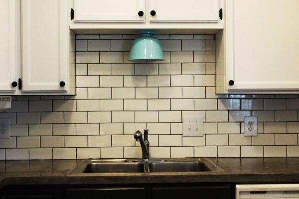 Tile For Kitchen Backsplash  How to Install a Subway Tile Kitchen Backsplash