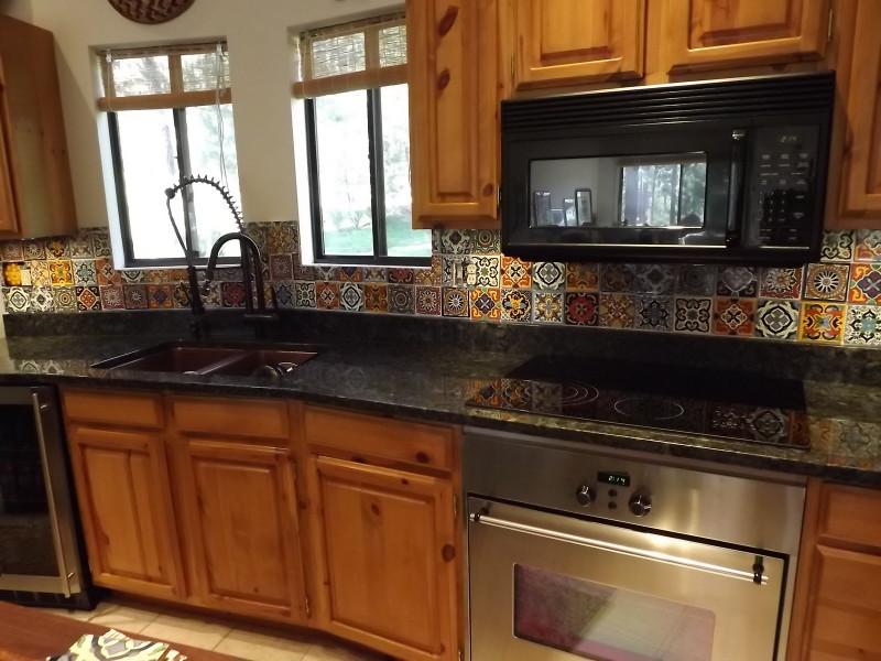 Tile Kitchen Backsplash  Dusty Coyote Mexican Tile Kitchen Backsplash DIY