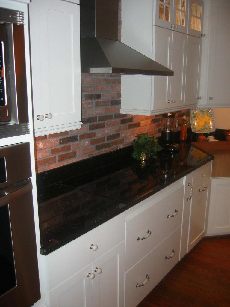 Tile Kitchen Backsplash  Lancaster Running Bond 2×8″ brick tile