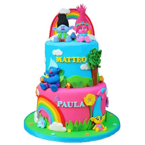 Troll Birthday Cake  Trolls Birthday Cake