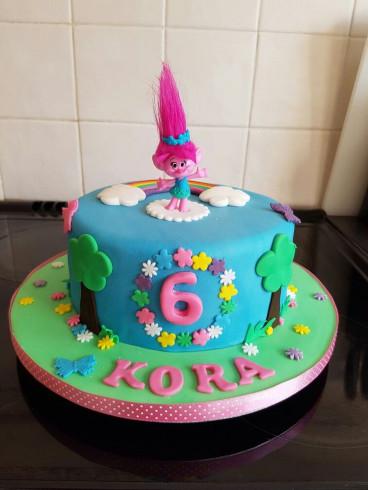Troll Birthday Cake  Best 25 Trolls cakes ideas on Pinterest