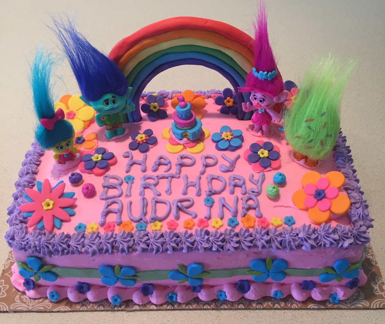Troll Birthday Cake  Southern Blue Celebrations TROLLS CAKE & COOKIE IDEAS