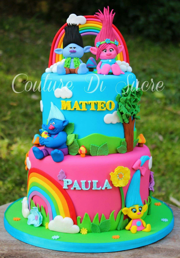 Troll Birthday Cake  Trolls Birthday Party Ideas for your Kid s Birthday party