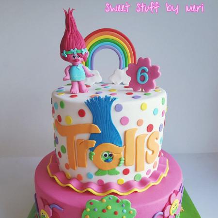 Troll Birthday Cake  Trolls cake cake by Meri CakesDecor