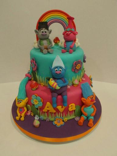 Troll Birthday Cake  Trolls cake Cakes