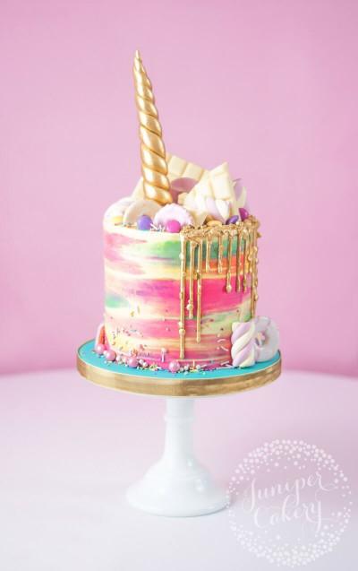 Unicorn Birthday Cake  Super Magical Rainbow Unicorn Cake