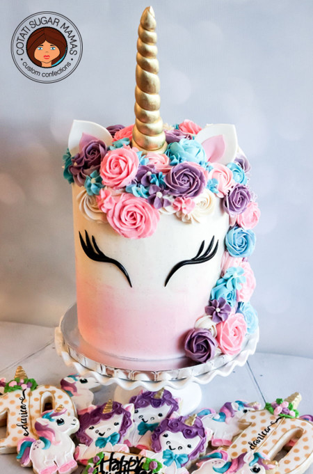 Unicorn Birthday Cake  Unicorn Themed Cake CakeCentral