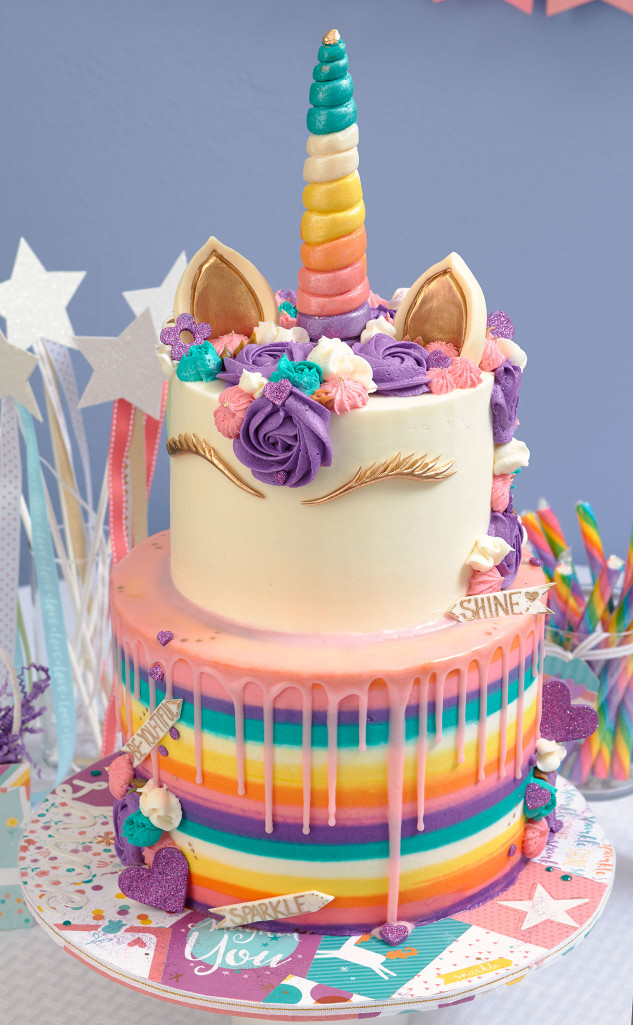Unicorn Birthday Cake  This Unicorn Party Takes the Cake