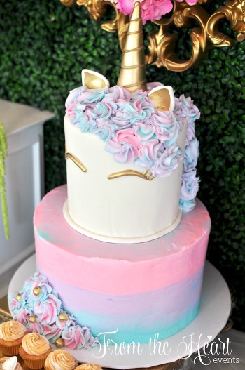 Unicorn Birthday Cake  Kara s Party Ideas Vibrant Unicorn Birthday Party