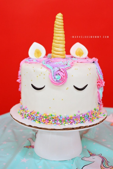 Unicorn Birthday Cake  DIY Rainbow Unicorn Cake – Haley's 6th Birthday Party