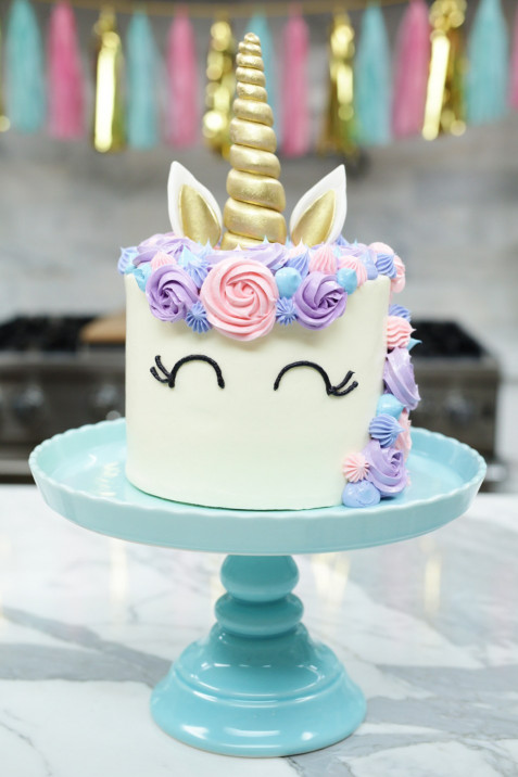Unicorn Birthday Cake  How to make a Unicorn Cake Rosanna Pansino