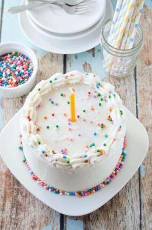 Vegan Birthday Cake  Vegan Vanilla Birthday Cake