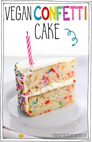 Vegan Birthday Cake  Vegan Confetti Cake • It Doesn t Taste Like Chicken