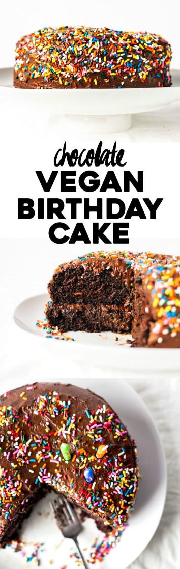 Vegan Birthday Cake  Chocolate Vegan Birthday Cake