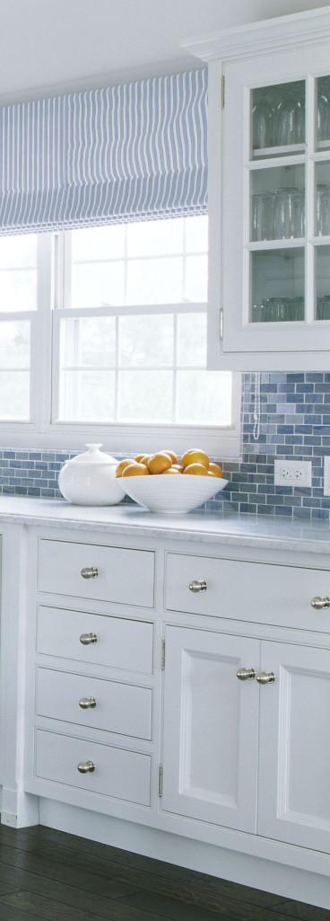 White Kitchen Backsplash  Coastal Kitchen Hardware Check