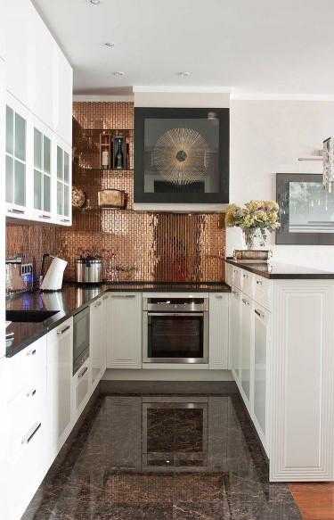 White Kitchen Backsplash  20 Copper Backsplash Ideas That Add Glitter and Glam to