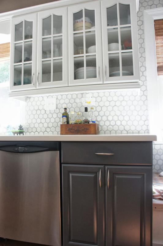 White Kitchen Backsplash  Remodelaholic