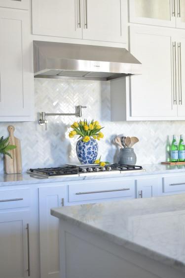 White Kitchen Backsplash  A Kitchen Backsplash Transformation A Design Decision