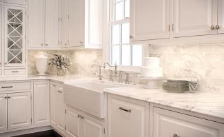White Kitchen Backsplash  White Backsplash Tile s & Ideas