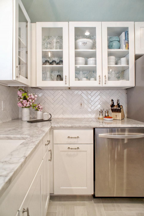 White Kitchen Backsplash  Our 25 Most Pinned s of 2016 Dream Home