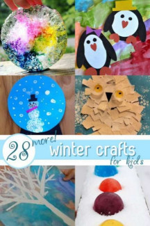 """Winter Crafts For Kids  """"SNOW"""" Many SIMPLE Winter Crafts for Kids to Make"""