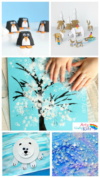 Winter Crafts for Kids Lovely 16 Easy Winter Crafts for Kids Arty Crafty Kids