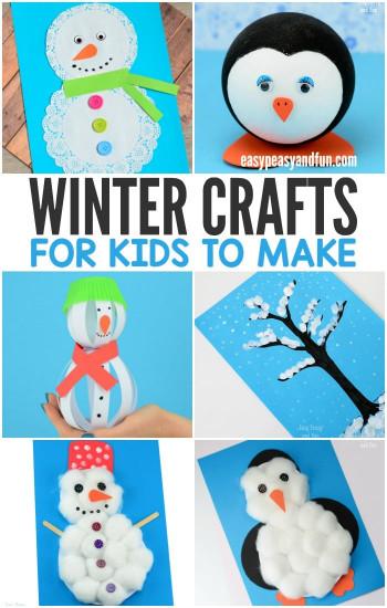 Winter Crafts For Kids  Winter Crafts for Kids to Make Fun Art and Craft Ideas