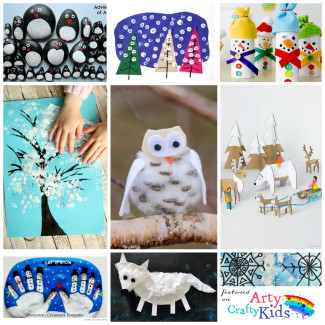 Winter Crafts For Kids  16 Easy Winter Crafts for Kids Arty Crafty Kids