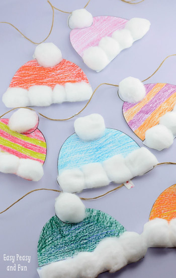 Winter Crafts For Kids  Winter Hats Craft for Kids Perfect Classroom Craft