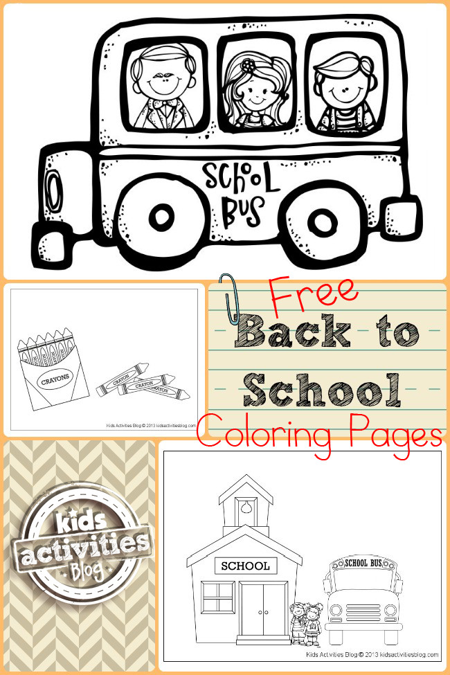 Back To School Coloring Pages  Free Back to School Coloring Pages