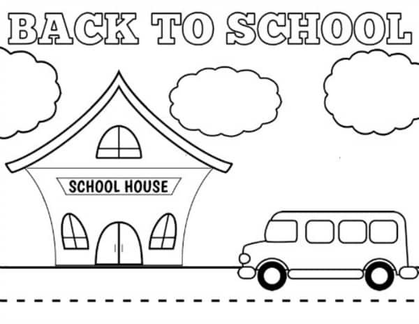 Back To School Coloring Pages  Free Printable Back to School Coloring Sheets