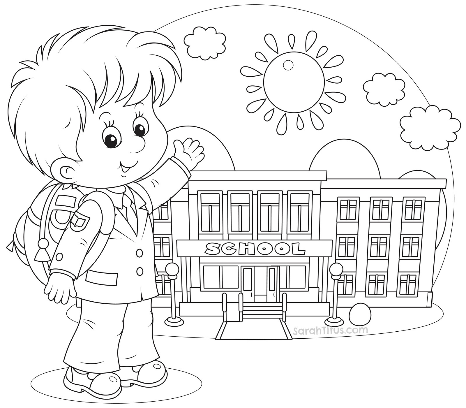 Back To School Coloring Pages  Back to School Coloring Pages Sarah Titus